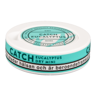 Catch Dry Eucalyptus Mini White Portion Snus