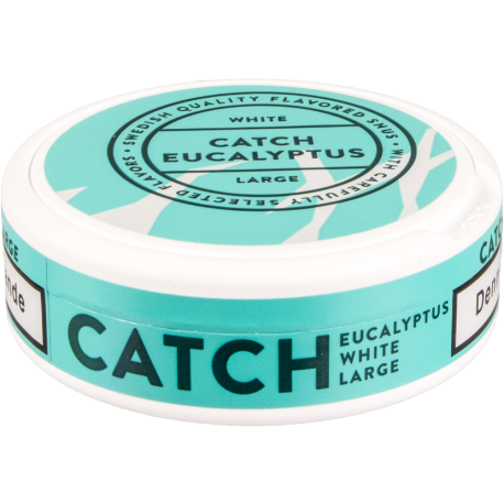 Catch Eucalyptus Large White Portion Snus