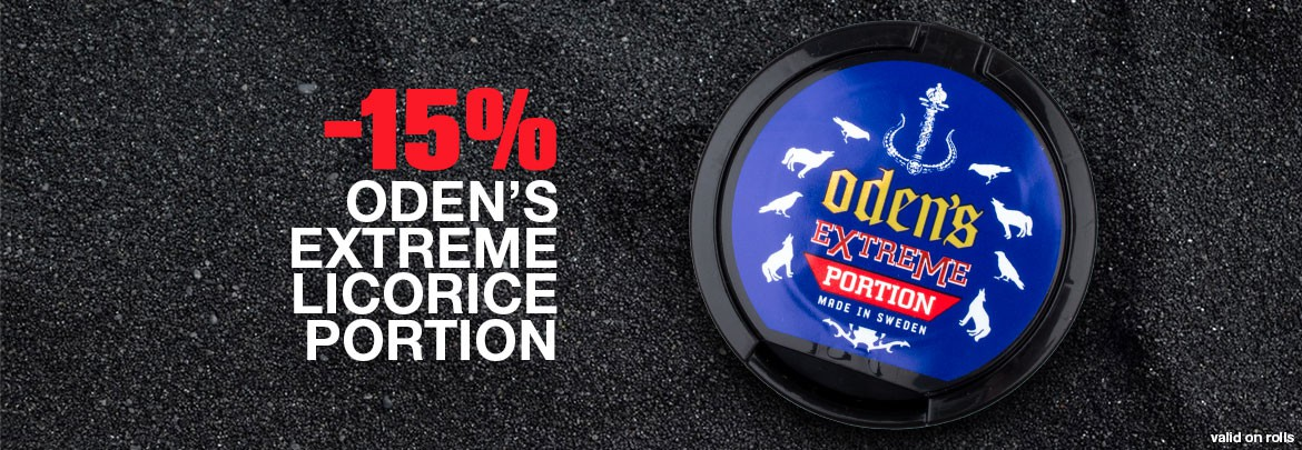 15% off rolls of Oden's Extreme Licorice Portion!