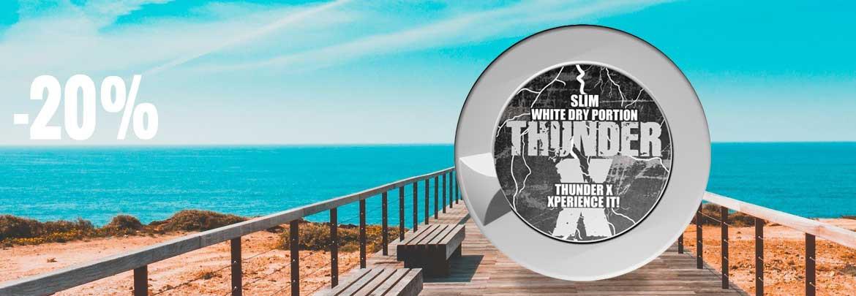 20% off rolls of Thunder X Slim White Dry!