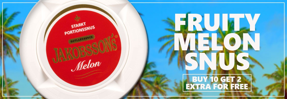 Buy 12 for 10 of Jakobsson's Melon Strong Snus!