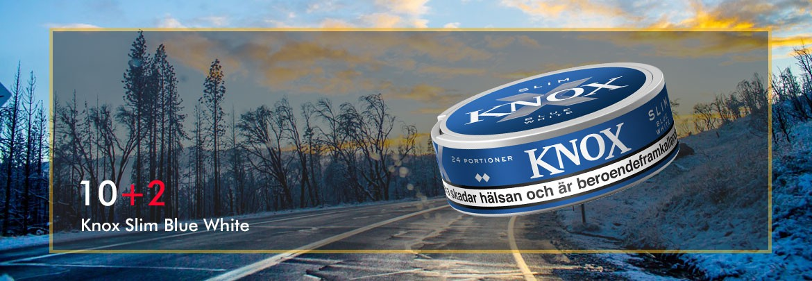 Buy 12 cans of Knox Slim Blue White at the price of only 10!