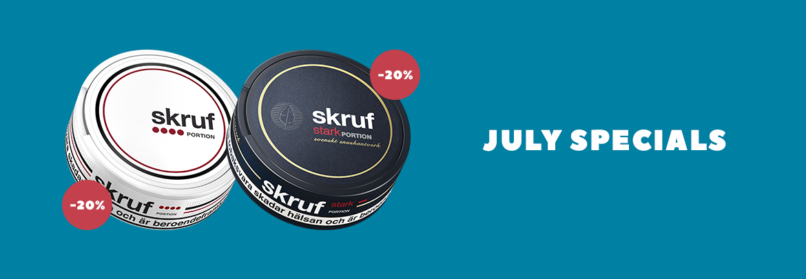 Discount on selected snus - Click here!